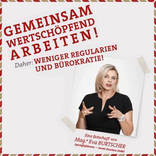 Eine Botschaft von Mag. Eva Burtscher